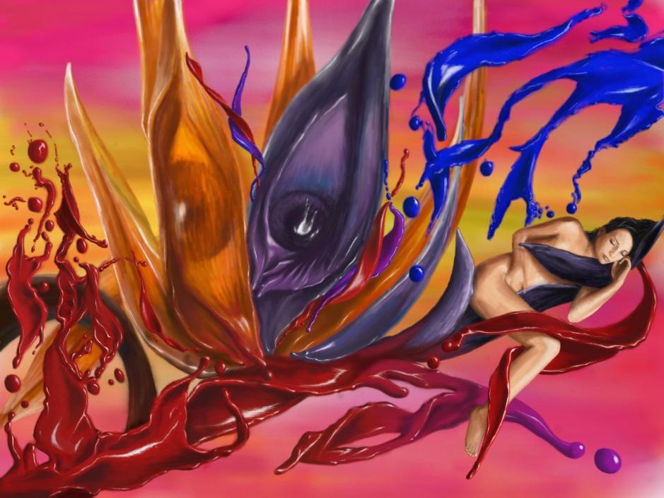 Fluid Emotions Digital Painting